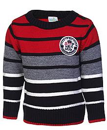 Babyhug Full Sleeves Sweater - Stripes Pattern