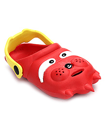 Bash Clog With Back Ankle Strap - Red