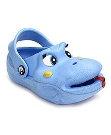 Bash Clog With Back Ankle Strap - Blue