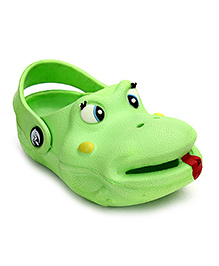 Bash Clog With Back Ankle Strap - Green