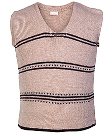 Babyhug Sleeveless Sweater - Stripes