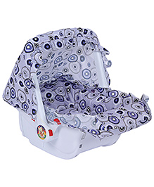 Fab N Funky Baby Carry Cot Blue - Circle Print