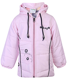 Babyhug Hooded Jacket Full Sleeves - Pink