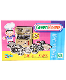 Venus Green House Stainless Steel Kitchen Set - 20 Pieces