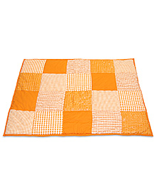 Taftan European Brand 5 layer Padded Play Mat Orange Patch