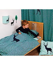 Taftan European Brand Big Size Quilt Deer Blue Green