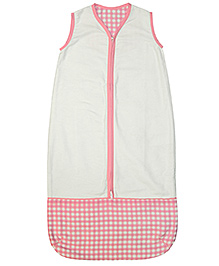 Taftan European Brand Sleeping Bag Checks Pink