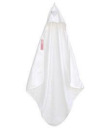 Taftan European Brand Hooded Terry Towel Heart White