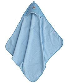 Taftan European Brand Hooded Terry Towel Star Light Blue
