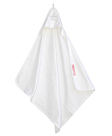Taftan European Brand Hooded Terry Towel Star White