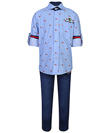 Active Kids Wear Shirt And Pant Set - Embroidered Patch