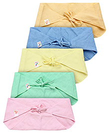 Tinycare Triangle Cloth Nappy Multicolor Large - Pack Of 5