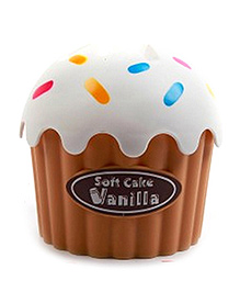 EZ Life Cute Cup Cake Tissue Holder - White And Brown