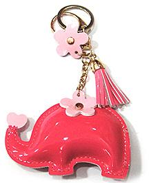 EZ Life Cute Tassle Key Chain Elephant - Dark Pink