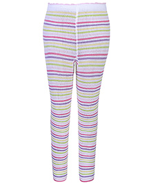 Mustang Tights Stockings White - Stripes
