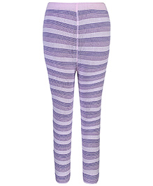 Mustang Tights Stockings Lavender - Stripes