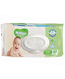 Huggies Thick Baby Wipes Imported - 80 Pieces