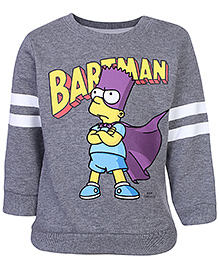 Fox Baby Full Sleeves Sweatshirt Grey - Bartman Print