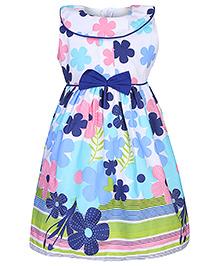 Babyhug Sleeveless Frock - Floral Print