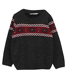 Beebay Snowflake Jaquard Sweater - Black