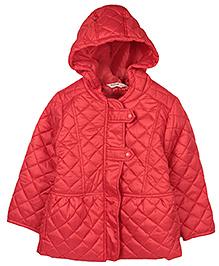 Beebay Cross Stitch Design Hooded Jacket - Red