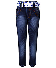 Talent Full Length Jeans With Belt - Blue