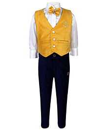 Active Kids Wear Shirt And Pant With Jacket - Bow Tie