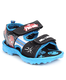 Spiderman Printed Sandal Dual Velcro Strap - Red and Black