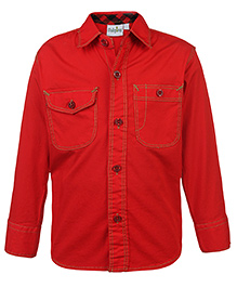 Babyhug Full Sleeves Shirt Red - Solid Shirt