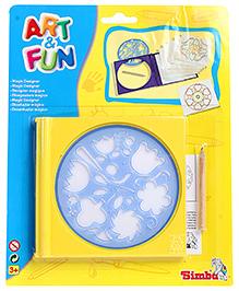Simba Art And Fun Magic Designer Stencil - Yellow