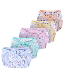 Babyhug Cloth Nappy With Insert Large Multi Color - Set Of 5