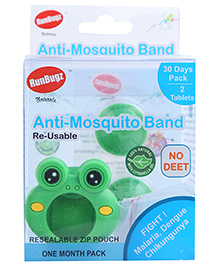 Runbugz Froggy Anti Mosquito Bracelet With Two Refillable Tab