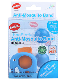 Runbugz Elephant Anti Mosquito Bracelet With Two Refillable Tab