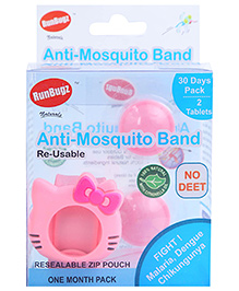Runbugz Kitty Anti Mosquito Bracelet With Two Refillable Tab