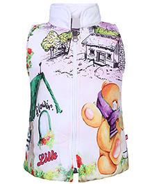 Little Kangaroos Sleeveless Jacket - Printed