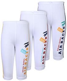 Zero Track Pants Side Print White - Set of 3
