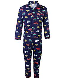 Fido Full Sleeves Night Suit - Car Print