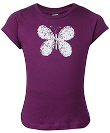 Zero Short Sleeves Top - Butterfly Print