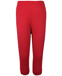 Pink Rabbit Ribbed Leggings - Red