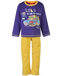 Little Kangaroos Sweat T-Shirt And Pant Set - Lilk Print