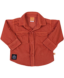 Little Kangaroos Full Sleeves Shirt - Orange