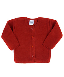 Babyhug Full Sleeves Sweater - Solid Colour