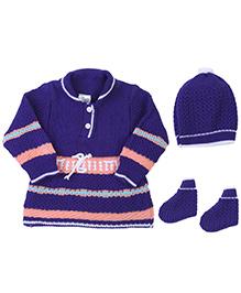 Babyhug Full Sleeves Winter Wear Set - Pack Of 3
