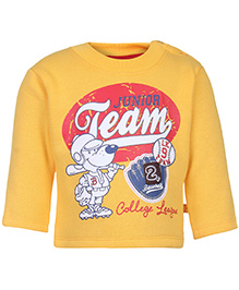 Little Kangaroos Full Sleeves Sweatshirt - Yellow