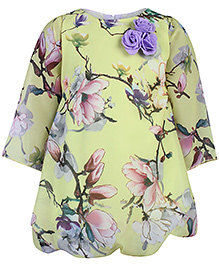 Softouch Full Sleeves Party Frock - Yellow