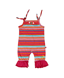 Buzzy Tie Knot Playsuit Romper - Multi Colour Stripes