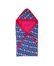 Buzzy Hooded Quilted Wrapper Printed - Pink