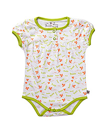 Buzzy Short Sleeves Onesie Printed - Lime Green