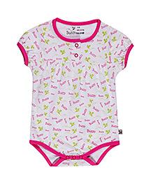 Buzzy Short Sleeves Onesie Printed - Dark Pink