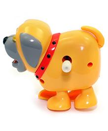 Baby Steps Running Doggy Wind Up Toy Orange